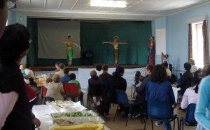 Dancers at vegetarian dinner