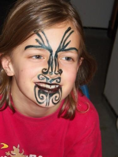 Maori face paint